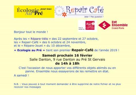 annonce repair café fév 19